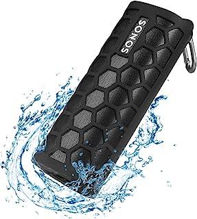 Seracle Silikonhülle Tragetasche Case Schlinge Tasche für Sonos Roam WLAN & Bluetooth Speaker (Schwarz)