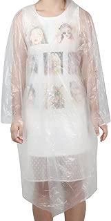 TRIXES Waterproof Poncho Unisex Transparent Rain Coat Mac Festival Protection