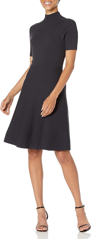 Lark & Ro Women's Matisse Half Sleeve Funnel Neck Cut Out Dress
