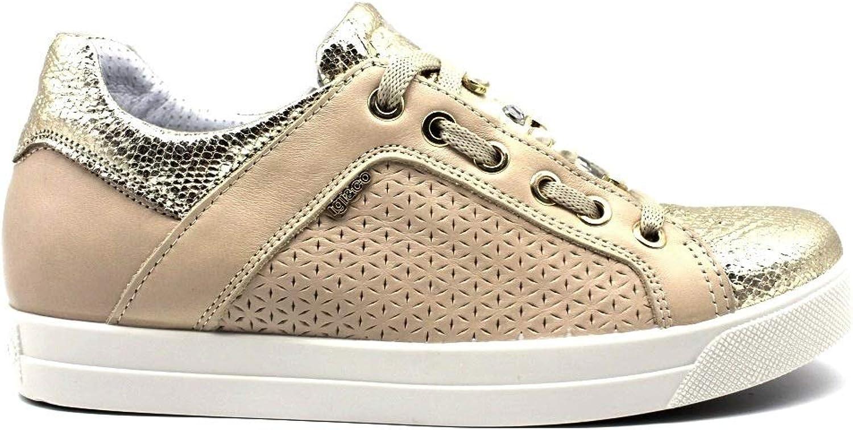 IGIeCO 3154122 Platin Turnschuhe Damenschuhe Schuhe Casual