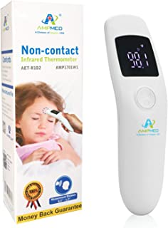 Amplim Medical, Hospital Grade Non Contact Infrared Forehead Thermometer. Baby/Kid/Infant/Toddler/Child/Adult/Professional...