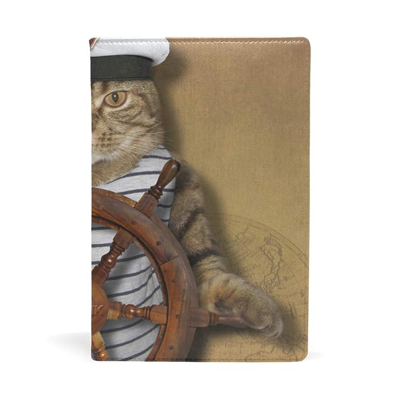 ヒューム謝罪憂鬱な船員の猫 ブックカバー 文庫 a5 皮革 おしゃれ 文庫本カバー 資料 収納入れ オフィス用品 読書 雑貨 プレゼント耐久性に優れ
