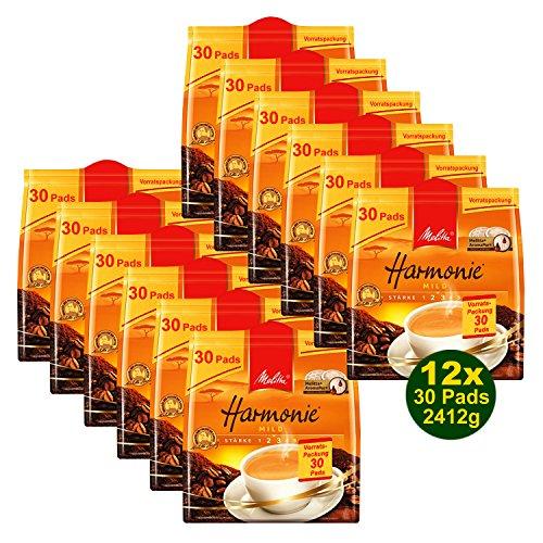 Melitta Harmonie MILD 12x 30 Pads á 201g (2412g) - Röstkaffee (Vorratspackung)