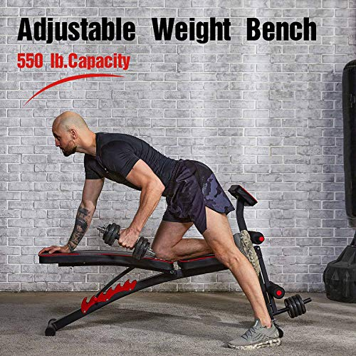 ZELUS Adjustable Weight Bench with Roman Chair | Inclined Workout Bench for Home Use | Home Gym Fitness Preacher Curl Bench | Exercise Bench Strength Training Equipment