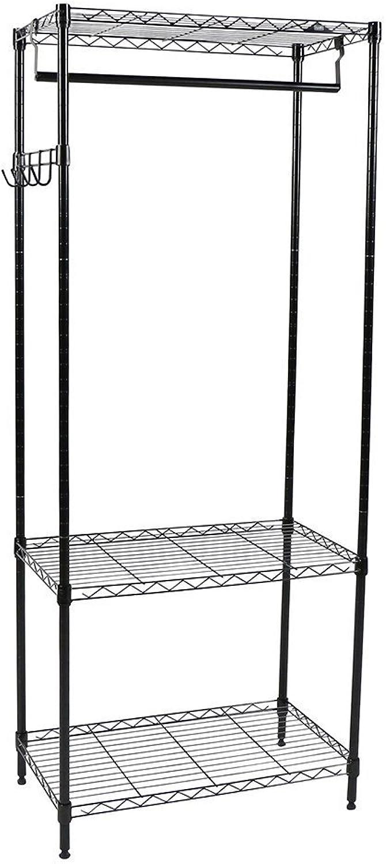 Apollo Hardware 3-Shelf Wire Shelving Garment Rack 14 x24 x60  (Black)