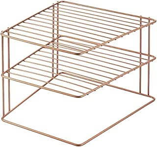 METALTEX - Porte-Assiettes Angle 2 Niveaux - PALIO Copper
