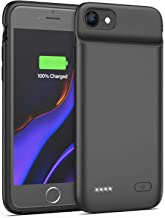 Lonlif Battery Case for iPhone 7/8, 3200mAh Portable Charging Case Protective Slim Extended Battery Pack Charger Case (Black)