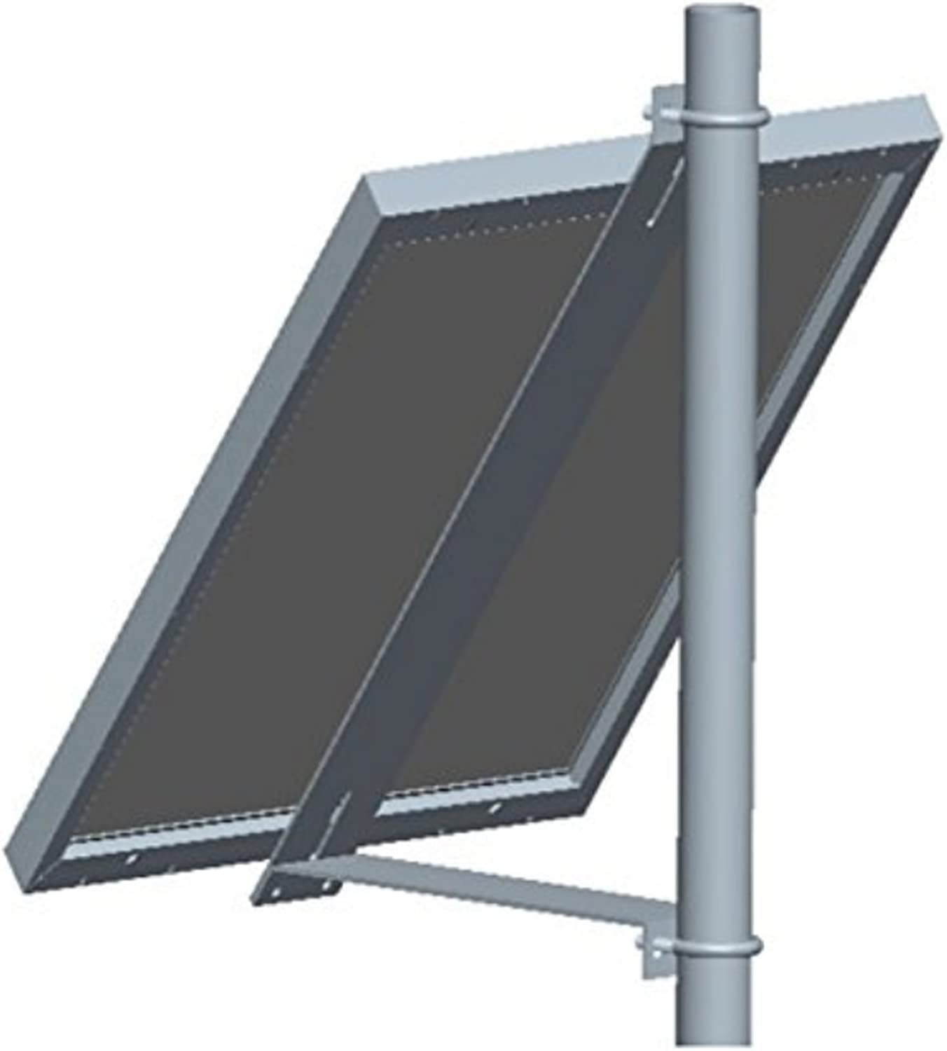 Solar Stent Solar Panel Pole Mount Kit Single Arm Pole Wall Mount Bracket Support Solar Panel 5W to 50W and 30W to 60W (Style   P-1002)