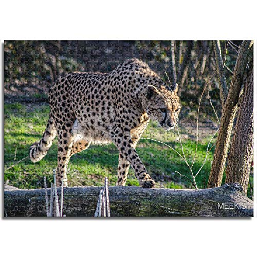 BOVIENCHE Wooden Jigsaw Puzzle 1000 Piece Leopard Walking On Dead Wood Street Arts Coloring Gift Toys Fun Games Great Educational Gift For Kids-(75 X 50Cm)