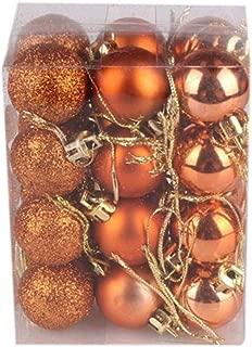 Hot Sale!! Christmas Tree Decor Ball,Lelili Fantastic 24Pcs Xmas Hanging Decor Ball Home Party Tree Ornament Decor (30mm, Orange)