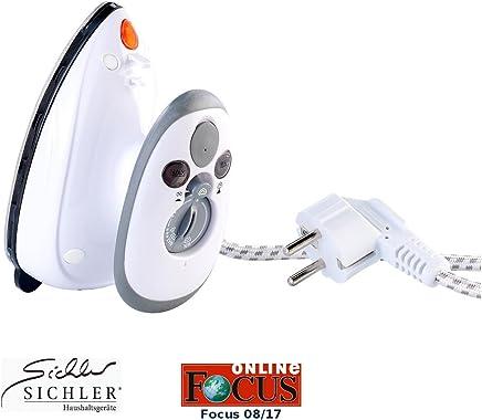 Sichler Haushaltsgeräte Reise Dampf Bügeleisen: Kompaktes Dampfbügeleisen für Reise & Urlaub, 110 & 230 Volt (Mini Dampfbügeleisen)