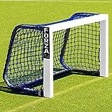 FORZA Mini Field Hockey Goals – 3ft x 2ft Weatherproof Field Hockey Target Goal | Black Or Blue Net [Net World Sports] (Blue)