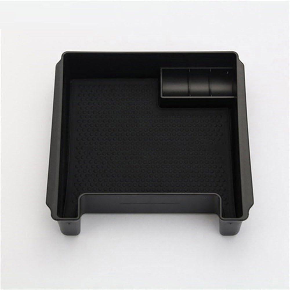 DIYUCAR Caja de almacenamiento de reposabrazos negra para S60 S60L V60 XC60 2009-2017 con accesorios de coche Mat
