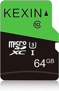 KEXIN MicroSDカード 64GB 2年保証 UHS-I U3 Class10 SDアダプター付 SDXC マイクロSDカード Nintendo Switch 動作確認済 超高速転送 メモリカード スマートフォン デジカメラ ドローン ...