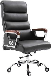 SMLZV Sillas de Oficina del Ministerio del Interior Sillas sillas de Escritorio de Oficina Silla de Oficina Sofás Cuero de la Oficina Silla de Oficina Silla ejecutiva Silla del Jefe (Color : Black)