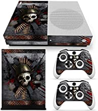 ZoomHit Xbox One S Console Skin Decal Sticker Skull Metal + 2 Controller Skins Set (S Only)