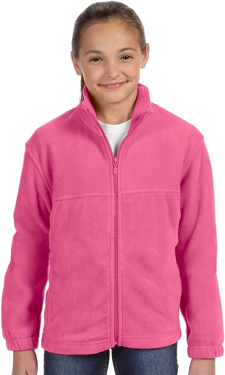 Harriton 8 oz. Full-Zip Fleece (M990Y) Charity Pink, S