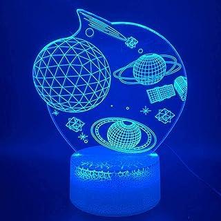 giyiohok 3D Eid Ramadan Mubarak LED Night Lamp for Decoration Muslim Symbol Lamp Building Lights for Friend Best Homecomin...