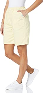 Chic Classic Collection womens Cotton Pull-On Elastic Waist Utility Pocket Bermuda Short Cotton Pull-on Elastic Waist Util...