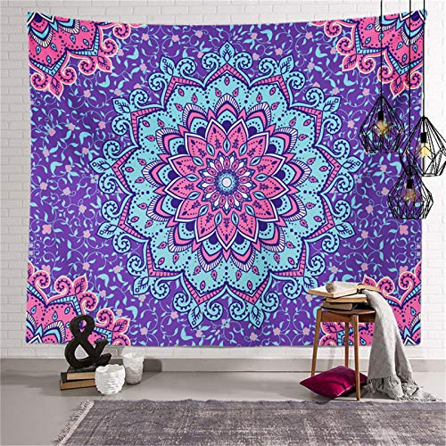 DHHY Polyester Printed Tapestries, Mandala Hand-Painted Series Digital Printed Tapestries, Household Decorative Tapestries, Beach Towels
