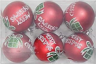 Rack Jack Merry Christmas Balls - Red - Set of 6