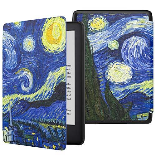 MoKo Funda para Kindle 10th Generation 2019 Release (Modelo No 9G29R), Cubierta Protectora con Smart Shell con Auto Sueño/Estela (No para Kindle Paperwhite) - Noche Estrellada