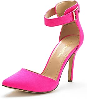 9e5149fa124 DREAM PAIRS Oppointed-Ankle Women s Pointed Toe Ankle Strap D Orsay High  Heel Stiletto