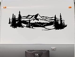 Mountains Lake Pine Tree RV Camper Camping Motorhome Trailer Decal Sticker Graphic Scene Mural