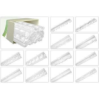 ZG10-36x30mm Hochwertige Stuckleisten leicht /& robust im modernen Design - Stuck Zierleiste Eckleiste Styroporleiste Winkelleiste Wandleiste HEXIMO 2 Meter Deckenleisten aus Styropor XPS