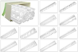 HEXIM O Plafondlijsten van piepschuim EPS - Stuclijsten met patroon, in traditioneel design - (50 meter voordeelpakket ZM1...