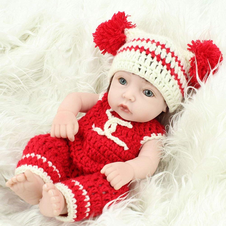 CHENG Reborn Baby Doll Lebensechte Weiche Silikon Geburtstag Kinder