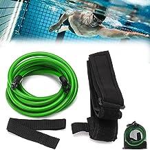 YQZ Cinturones de Entrenamiento de natación, Correa de Entrenamiento de Resistencia Fija de natación de 3M, Cuerda elástica para Principiantes,Verde