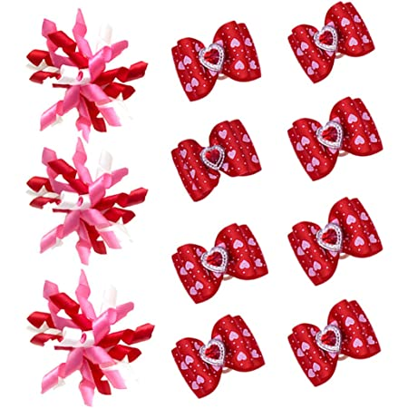 Red and Pink Jumbo Hearts  Valentine\u2019s Day \u201cHunk of Purring Love\u201d Pet Bow Tie