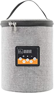 flower205 Chauffe-biberon de Voiture, USB Chauffe-biberon de Dessin animé Couverture chauffante Isolation Thermostat Porta...