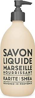 Compagnie de Provence Savon de Marseille Extra Pure Liquid Soap - Karite Shea Butter - 16.7 Fl Oz Glass Pump Bottle