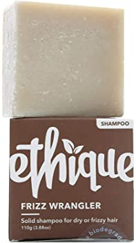 Ethique Shampoo Bar for Frizzy Hair, Frizz Wrangler - Sustainable Hydrating Natural Shampoo for Dry Hair, Soap Free, ...