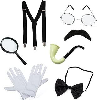 Detective Costume - 7 Pc Costume Accessories, Spy Costume, Spy Kit - Secret Agent Costume by Tigerdoe