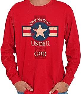 One Nation Under God Christian Religious Long Sleeve T Shirt
