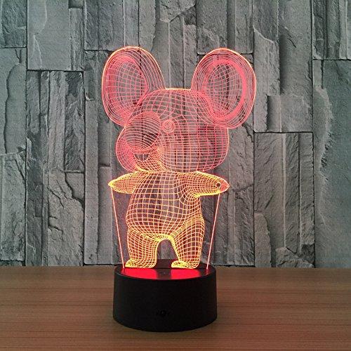 3D Niedlichen Tier Fisch Buddha Kopf Obst Auto Schlafzimmer Nachtlicht Fern Nachtlicht Achat Tischlampe Kerze Tischlampe Sonnenlicht Tischlampe