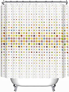YOLIYANA Multicolored Dot Background Vector Shower Curtain Ombre Shower Curtain 79''Long x 71''Wide