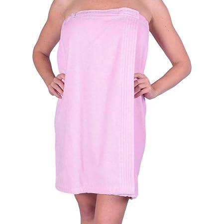 White 100/% Organic Turkish Cotton Adjustable for Spa Gym Pool w Pocket C/&B Womens Wrap Towel