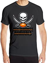 Annabelle Men's Milwaukees Admiral Short Sleeve Sports Summer T Shirt Black