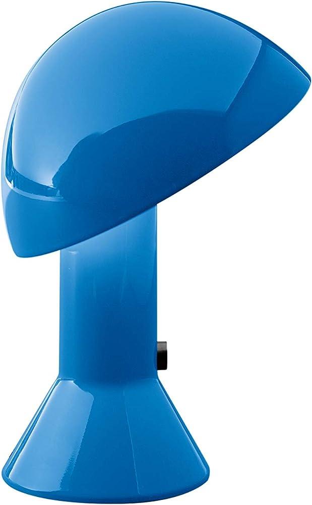 Martinelli luce elmetto, lampada da tavolo,in alluminio e resina 685/BL