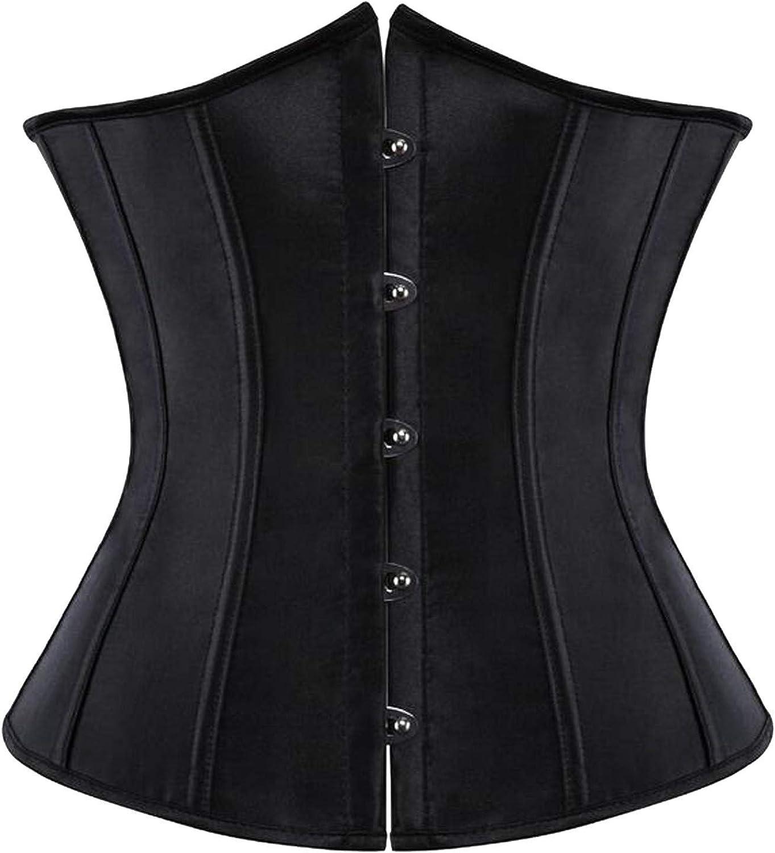 Women's Sexy LaceBack Zip Corset Top Bustier Verbust Waist Body Shapewear Tank Top