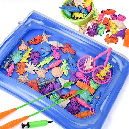 GQFGYYL-QD Juguetes de Baño para Bebés Juego de Pesca en Bañera, Piscina, Playa, 26 Piezas de Juguetes de Ducha para Niños de 18 Meses y Niñas