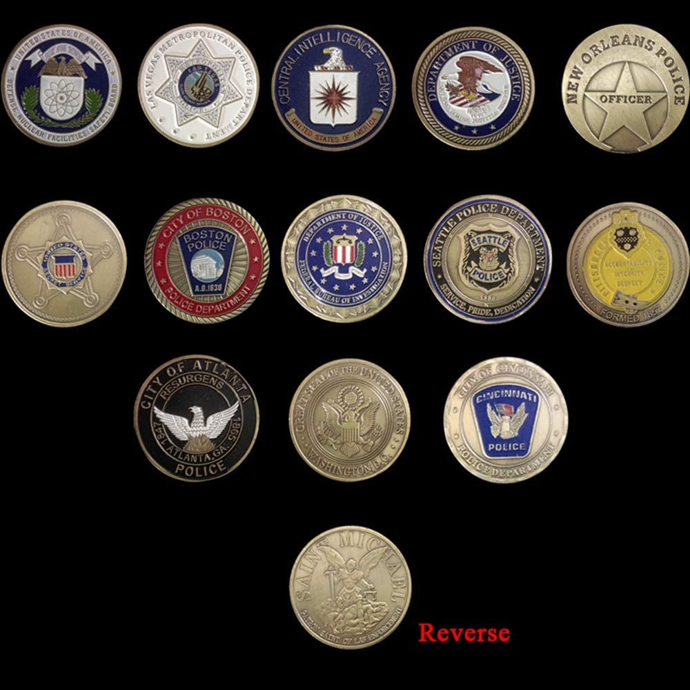 St. Michael Challenge Max 58% OFF Topics on TV Coin United Officer Challeng States Police