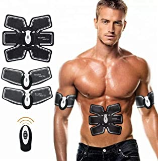 Muscle Toner,Victory Way Abdominal Toning Belt, Abs Trainer Wireless Body Gym Workout Home Office Fitness Equipment for Abdomen/Arm/Leg Training Men&Women,Wireless & Remote Control