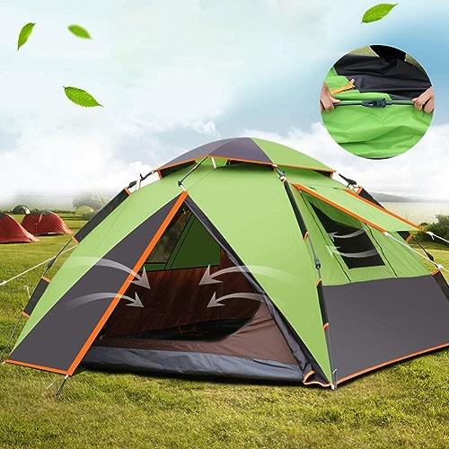 Grande Tente Solaire InstantanéE InstantanéE De Tente De Place De 3-4 Personnes, Moustiquaire, Tente De Jeu d'enfants, Tente De Camping RéSistante à l'eau,B,220  220  140CM
