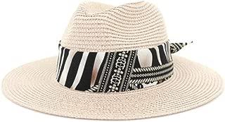 Outdoor Seaside Sunscreen White Beach hat Visor hat Jazz hat Straw hat