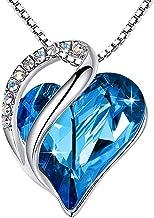 Leafael Infinity Love Heart Pendant Necklace Birthstone...